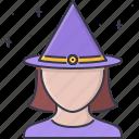 cap, fantasy, halloween, legend, magic, story, witch icon