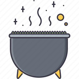 cauldron, fantasy, halloween, legend, potion, story, witch icon