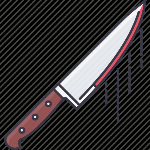 blood, fantasy, halloween, knife, legend, story icon