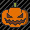 halloween, lantern, pumpkin, scary icon icon