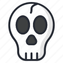 dead, death, halloween, skeleton, skull icon icon