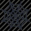 halloween, horror, spider, web icon icon