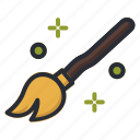 broom, halloween, magic, witch icon icon