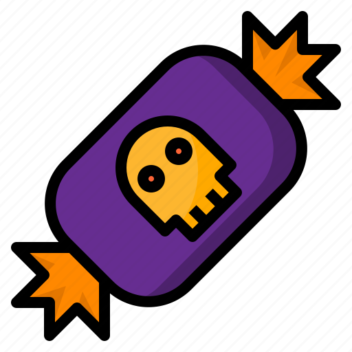 candy, halloween, skull, treat, trick icon