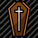 coffin, corpse, halloween, tomb, vampire icon