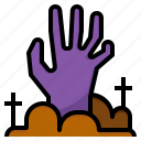 corpse, ghost, halloween, hand, zombie icon