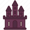 castle, ghost, halloween, haunted, mansion, scary, spooky icon
