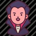 avatar, dracula, ghost, halloween, kid, scary, vampire icon