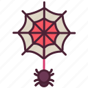 animal, halloween, horror, scary, spider, spooky, web icon