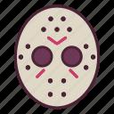 friday, halloween, horror, jason, killer, mask, scary icon