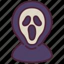 ghost, halloween, horror, killer, scary, scream, terrer icon