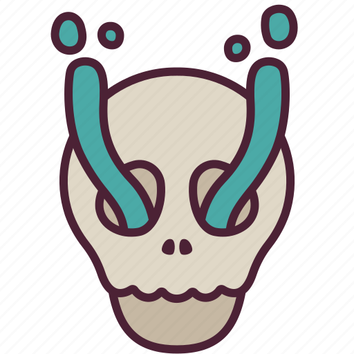 ghost, halloween, horror, scary, skeleton, skull, spooky icon