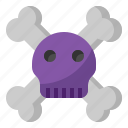 bone, danger, halloween, skeleton, skull icon