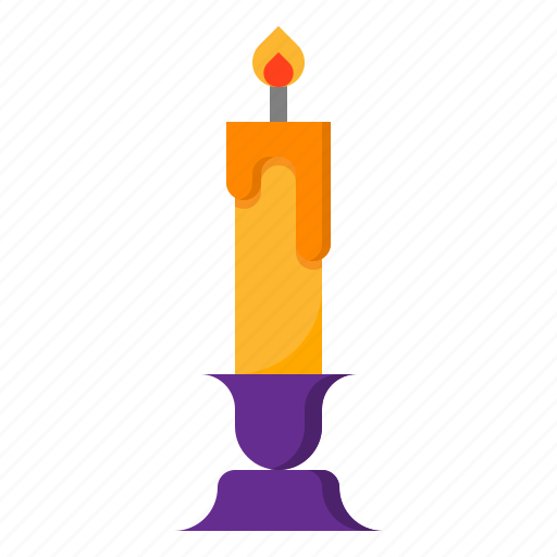 burn, candle, flame, halloween, lighting icon