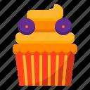 cake, cup, decoration, dessert, halloween, kid