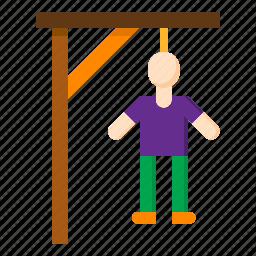 dead, game, halloween, hangman, suicide icon