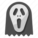 ghost, hallow, halloween, mask, scream icon