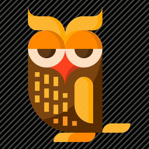 animal, halloween, night, owl, poultry icon