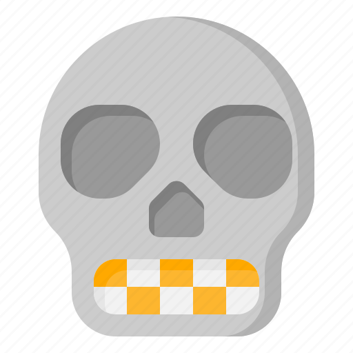 bone, halloween, head, skeleton, skull icon