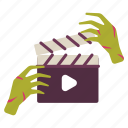 cinema, film, halloween, horror, movie, scary, zombies icon