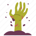 graveyard, halloween, hand, horror, scary, spooky, zombie icon