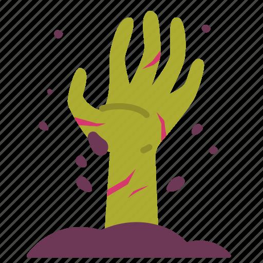 graveyard, halloween, hand, horror, scary, spooky, zombie icon