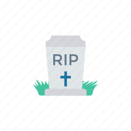 cemetry, churchyard, coffin, rip icon