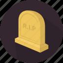 death, fear, grave, halloween icon