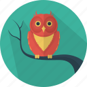 animal, fear, halloween, holiday, owl, scary icon