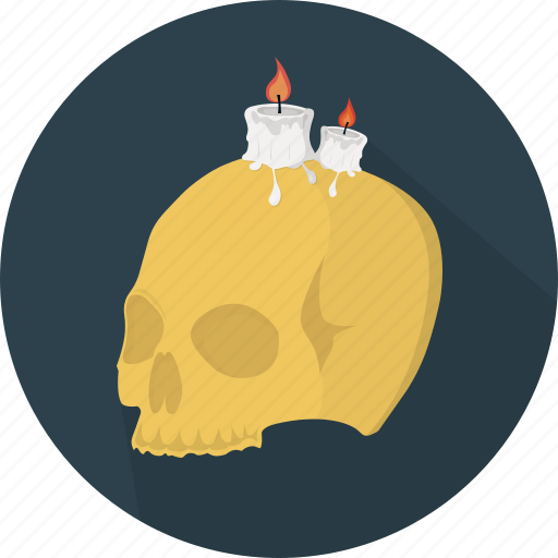 candles, death, fear, halloween, holiday, scary, skull icon