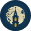 castle, celebration, chapel, church, darkness, halloween, holiday icon