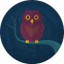 animal, celebration, darkness, halloween, holiday, owl, scary icon