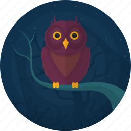 animal, celebration, darkness, halloween, holiday, owl, scary icon