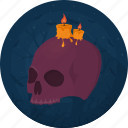 candle, celebration, darkness, death, evil, halloween, skull icon