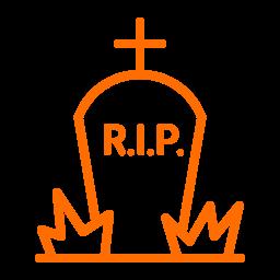 cemetery, death, gravestone, graveyard, halloween, rip icon
