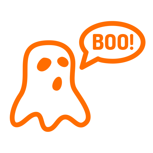boo, ghost, halloween, phantom, scary icon