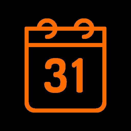 calendar, halloween icon