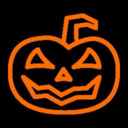 halloween, lantern, pumpkin, scary icon
