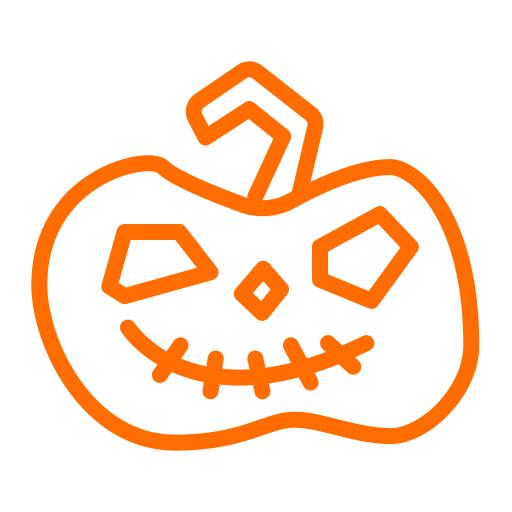 halloween, lantern, pumpkin, scary icon