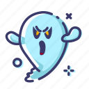 character, facial expression, ghost, halloween, scary icon