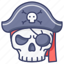 skull, death, halloween, pirate