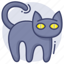 black, cat, curse, mystery icon