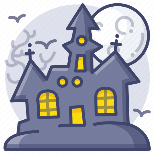 Halloween, castle, haunted icon - Download on Iconfinder