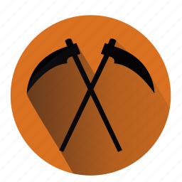 dead, death, halloween, jugement, monster, sickle, weapon icon