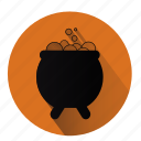 caldron, cauldron, halloween, magic, poison, potion, witch icon
