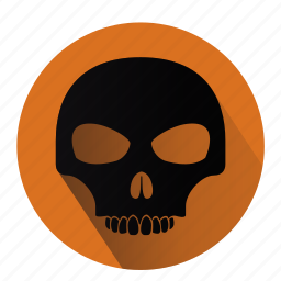 danger, halloween, horror, scary, skull, virus, warning icon