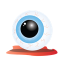 bloody, eye, halloween, scary icon