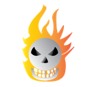 bone, burning, halloween, scary icon