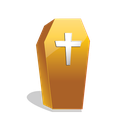 scary, halloween, coffin icon