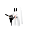 ghost, halloween, hat, scary icon